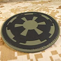 Star Wars Galactic Empire Olive Drab OD Imperial Logo PVC Gomme 3D Velcro Écusson Patch