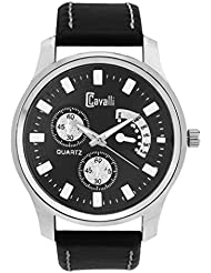 Cavalli Black Dial Analog Watch- For Men, Boys