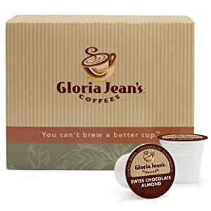 Gloria Jean's Coffees, Swiss Chocolate Almond, 24-Count K-Cups for Keurig Brewers (Pack of 2)