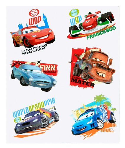 Disney Cars 2 Party Temporary Tattoos - 1