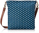 Maika Cosmetic Sling Crossbody Bag, Dots Navy