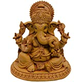 Ganesha Murti Idol Of Polyresin Lord Ganesh Brown Statue For Home And Office