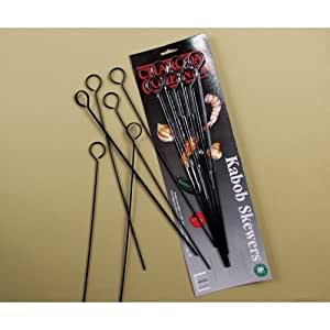 Charcoal Companion CC5042 Non-Stick 13-Inch Kabob Skewers, Set of 6