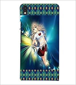PrintDhaba Fantasy Girl D-5662 Back Case Cover for HUAWEI ASCEND P6 (Multi-Coloured)