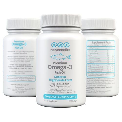 Premium omega 3 fish oil by naturenetics 3rd party for Triglyceride fish oil