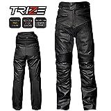 TRIZE バイク用レザーパンツ TL01B 本革 本皮 牛革 ライダーパンツ パッド内蔵 34インチ