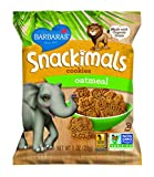 Barbaras Bakery Snackimals Animal Cookies, Oatmeal, 6 1-Ounce Packages (Pack of 6)
