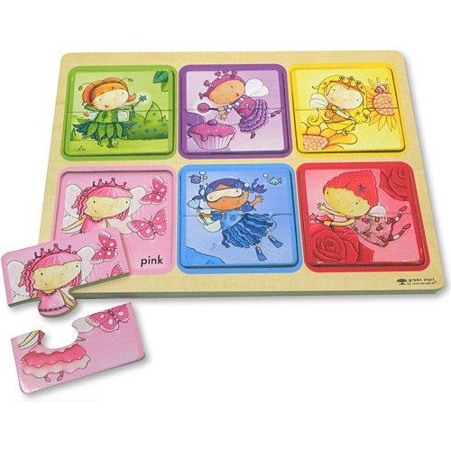 Innovative Kids Green Start Wooden Puzzles: Rainbow Fairies (18Mos+) Puzzle