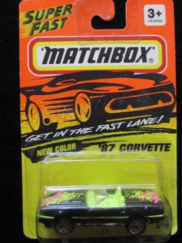 87 Corvette (black) Matchbox Super Fast Series #14 - 1