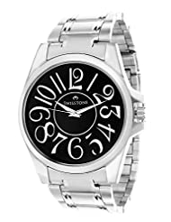 Swisstone Black Dial Stainless Steel Chain Analog Watch For Men/Boys- ST-GR009-BLK-CH
