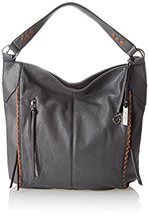 Jessica Simpson Dream Weaver Bucket Shoulder Bag,Slate Grey/Luggage,One Size