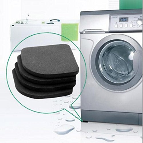 4 Pcs/Lot Black Color Multifunctional Washing Machine Shock Pads Non-Slip Mats Refrigerator Shock front-398667