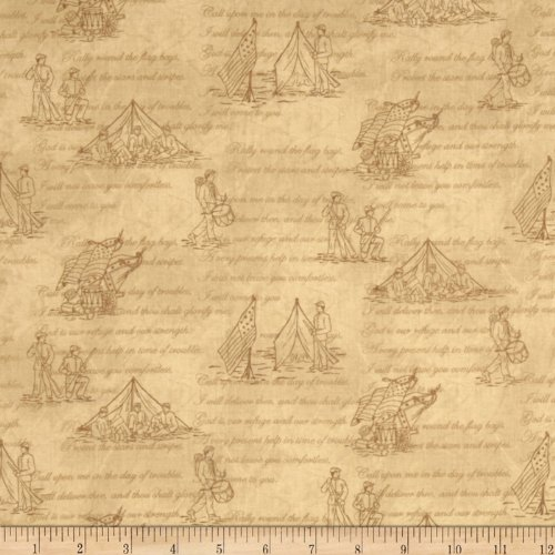 The Union Forever Soldiers Ivory Fabric By The YD