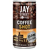 Jay Street Coffee Coffee Shot, Unsweetened Black, 6.4 Ounce (Pack of 20)