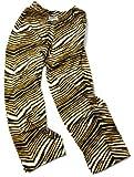 Zubaz Pants: Black/Gold Zubaz Zebra Pants