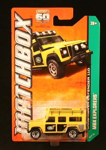 Land Rover Defender 110 (Yellow) * Mbx Explorers * 60Th Anniversary Matchbox 2013 Basic Die-Cast Vehicle (#59 Of 120) front-617726