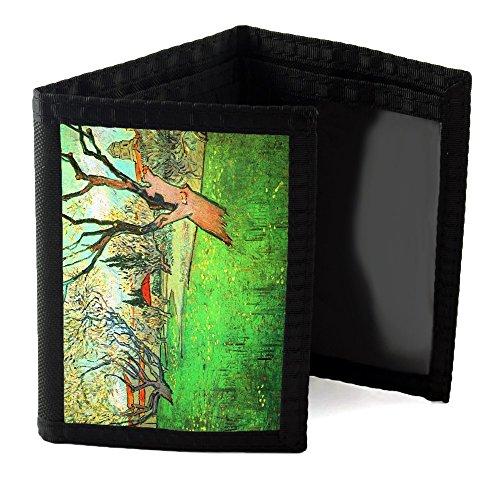 van-gogh-view-of-arles-with-flowering-tree-black-unisex-nylon-ripper-wallet-sublimation-printed-basi