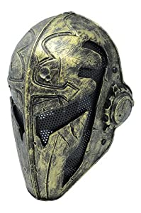 FMA New Black Wire Mesh Golden Full Face Protection Paintball Mask Templar L563 by FMA