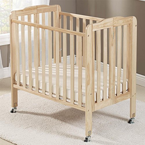 Big Oshi Angela 2 Positions Portable Crib, Natural