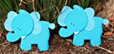 Felted Blue Elephant Quilt Clips - Set/2