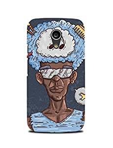 Gobzu Printed Hard Case Back Cover for Moto G2 / Moto G 2nd Generation - Afro American Woman