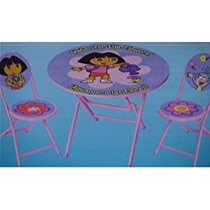 Amazon Com Dora The Explorer 3 Piece Table And Chair Set