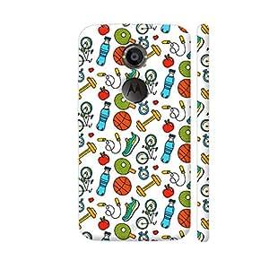 Colorpur Fitness Gym Sports Freak On White Artwork On Motorola Moto X2 Cover (Designer Mobile Back Case)   Artist: Abhinav