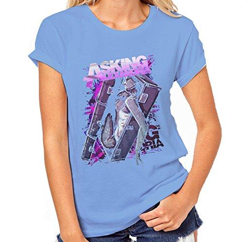 Asking Alexandria-Maglietta classica da donna blu XX-Large