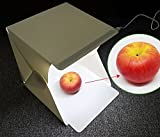 MyArmor スタジオ 24*24*22cm LEDライト付き バックスクリーン 黒&白各一枚 ポータブル 簡易 折り畳み式 組合せ簡単 ミニ 撮影ブース テント 撮影ボックス ライトボックス 撮影用品