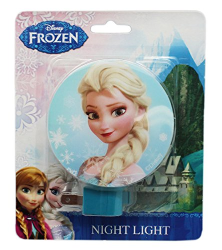 Blue Disney Frozen Elsa Plug In Night Light with Switch