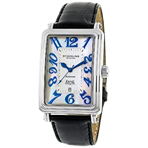 Stuhrling Original Men's  102AA.33152 Classic 'Uptown Chic' Rectangle Watch