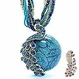 Zonman® Pretty Jewelry Retro Bohemia Style Pendant Opal Phoenix Peacock Necklace (A8)