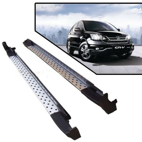 07-11 Honda CRV Silver Running Boards Pair Set Side Step OE Style Aluminum Bar (A1016) (Honda Crv Step Bar compare prices)