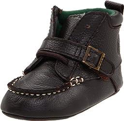 Ralph Lauren Layette Ranger Hi,Chocolate Crazyhorse Leather,0 M US Infant