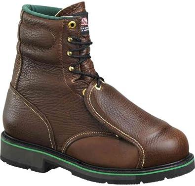 "Men's Work One 8"" External Metatarsal Guard Brown Boot E308, BROWN, 9EEE"