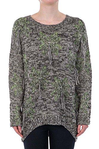 Hidden Fashion Womens Ladies Neon Underlay Tasselled Knitted Jumper [Green_One-Size-Only]