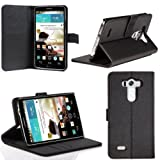 SUPCASE LG G3 Case - Premium Wallet Leather Case (Black, Built-in Credit Card/ID Card Slot)