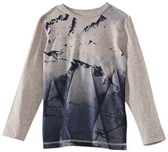 ESPRIT Sweatshirt  Col ras du cou Manches longues Garçon - Gris - Grau (086 STONE GREY MEL) - FR : 10 ans (Taille fabricant : 140/146)
