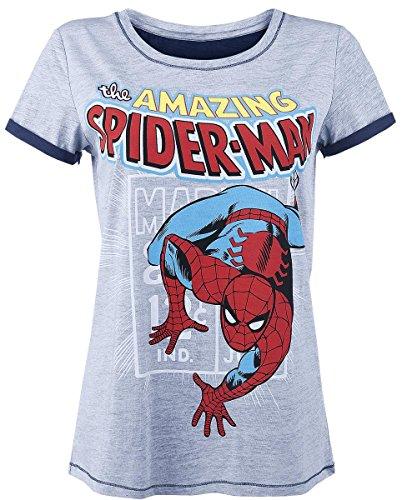 Spiderman Comic Style Maglia donna grigio sport XS