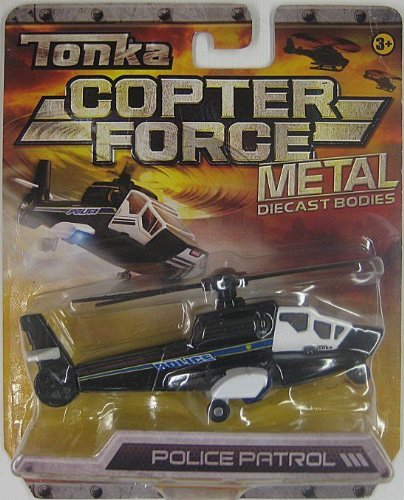 Tonka Copter Force Metal Diecast Bodies- POLICE PATROL - 1