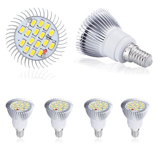 4 Pcs High Power 8W E14 Led Light 5630 Smd Ultra Bright Lamp Bulb Warm White 230V