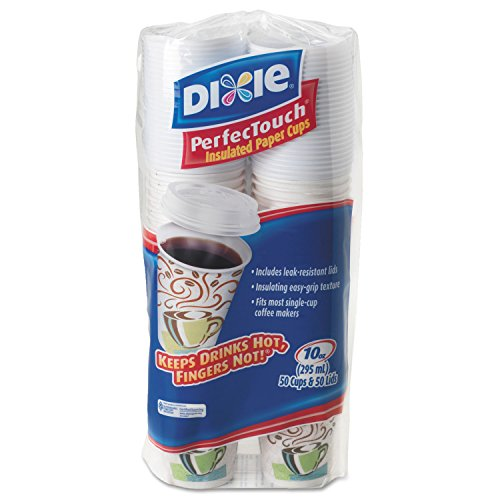 Dixie PerfecTouch Cup - 10oz - 50 / Pack - White
