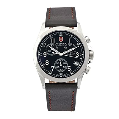 Victorinox Swiss Army Men's 24071 Infantry Chronograph Black Dial Watch
