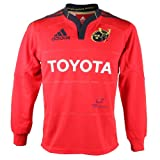 Adidas Munster Home Youths Long Sleeved Rugby Jersey (V13311) rrp£50 Toyota Red