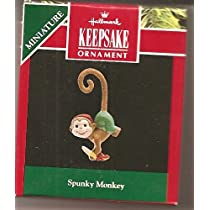 Spunky Monkey 1992Miniature Hallmark Keepsake Ornament