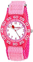 Red Balloon Kids W001895 Time Teacher Plastic Watch with Adjustable Pink Nylon Strap