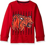Gymboree Boys Toddler Boys Ls Graphic Tee, Tiger Red, 3T