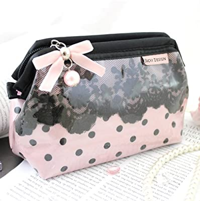 Best Cheap Deal for New Adorable Polka Dot Romance Wired Cosmetic Bag from Glitzy Gift Shop - Free 2 Day Shipping Available