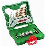 Bosch Bohrer-Set Titanium (30-teilig, X-Line für Holz, Stein, Metall) 2607019324