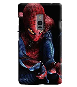 Blue Throat Spider Man Printed Designer Back Cover/Case For OnePlus 2